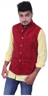 Austrich Sleeveless Solid Mens Jacket