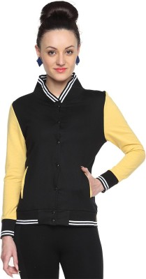 Campus Sutra Full Sleeve Solid Womens Jacket Jacket