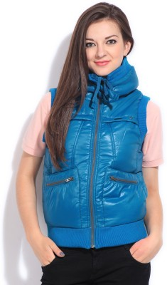 Flying Machine Sleeveless Solid Women's Jacket at flipkart