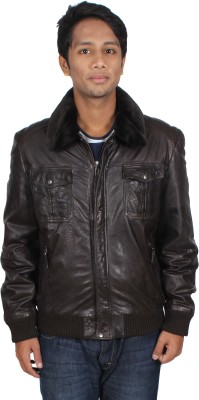 Marson Leather Full Sleeve Solid Men's Jacket