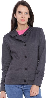 Campus Sutra Full Sleeve Solid Women's Jacket
