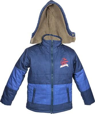 Blue Giraffe Full Sleeve Self Design Boy's Jacket