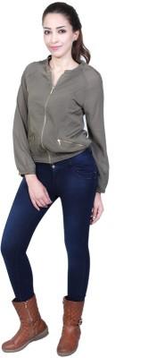 Urban Religion Full Sleeve Self Design Women's Jacket