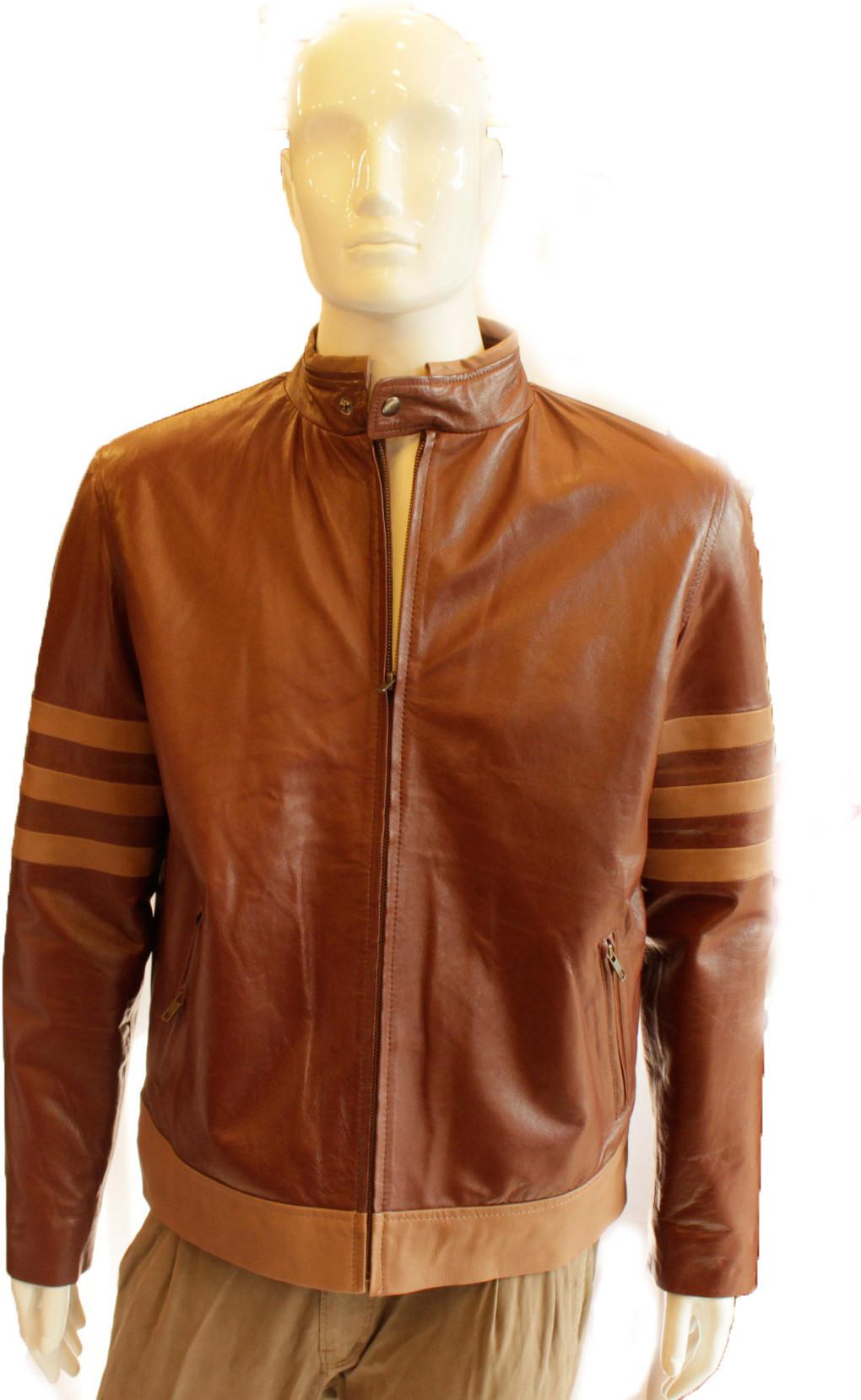 Tab Fashion Full Sleeve Solid Men's Leather Jacket - Knit Wear