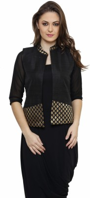 Ritzzy Sleeveless Solid Women's Jacket