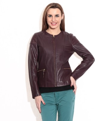 Theo&Ash Full Sleeve Solid Women's Round Neck Jacket