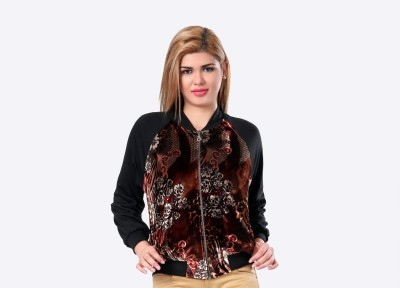 Glam & Luxe Full Sleeve Floral Print Women's Cropped Jacket