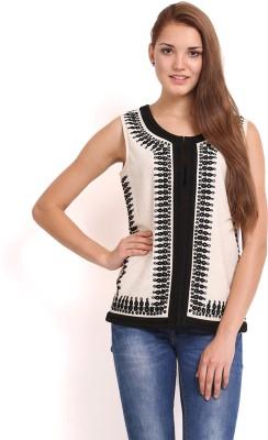Femenino Sleeveless Self Design Women's Jacket