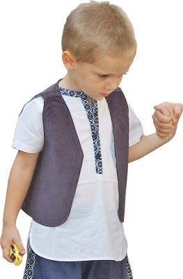 Aummade Sleeveless Solid Boy's Jacket