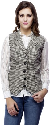 Ragdoll Sleeveless Checkered Women's Jacket