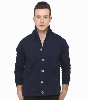 Casual Tees Full Sleeve Solid Men,s Fleece Coat Jacket