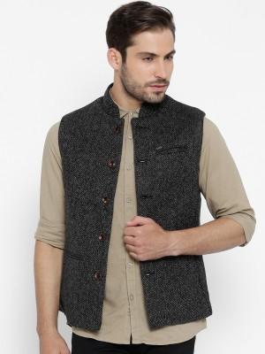 Numero Uno Sleeveless Self Design Men's Jacket