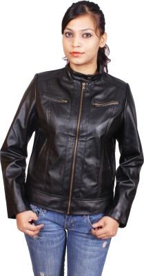 Launcher Full Sleeve Solid Women,s Biker Jacket