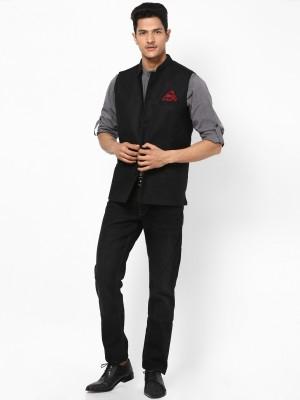 Even Sleeveless Harringbone Men's Jacket