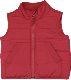 The Children's Place Sleeveless Solid Boys Puffer Jacket Jacket
