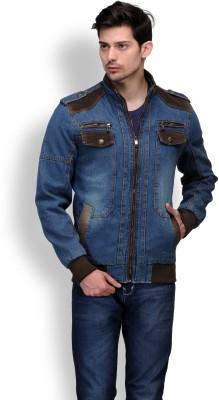 Comoros Full Sleeve Solid Men's Denim Jacket