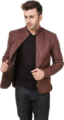 PerryJones Full Sleeve Solid Mens Jacket