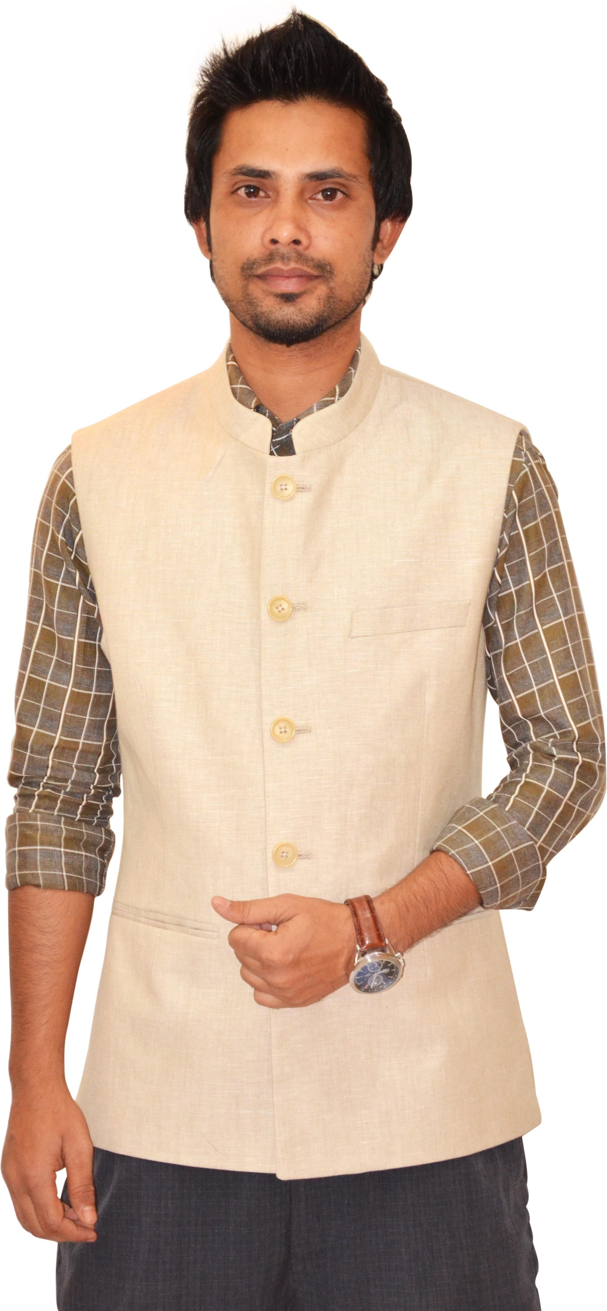 Astitva Sleeveless Solid Men's Nehru Jacket - Knit Wear