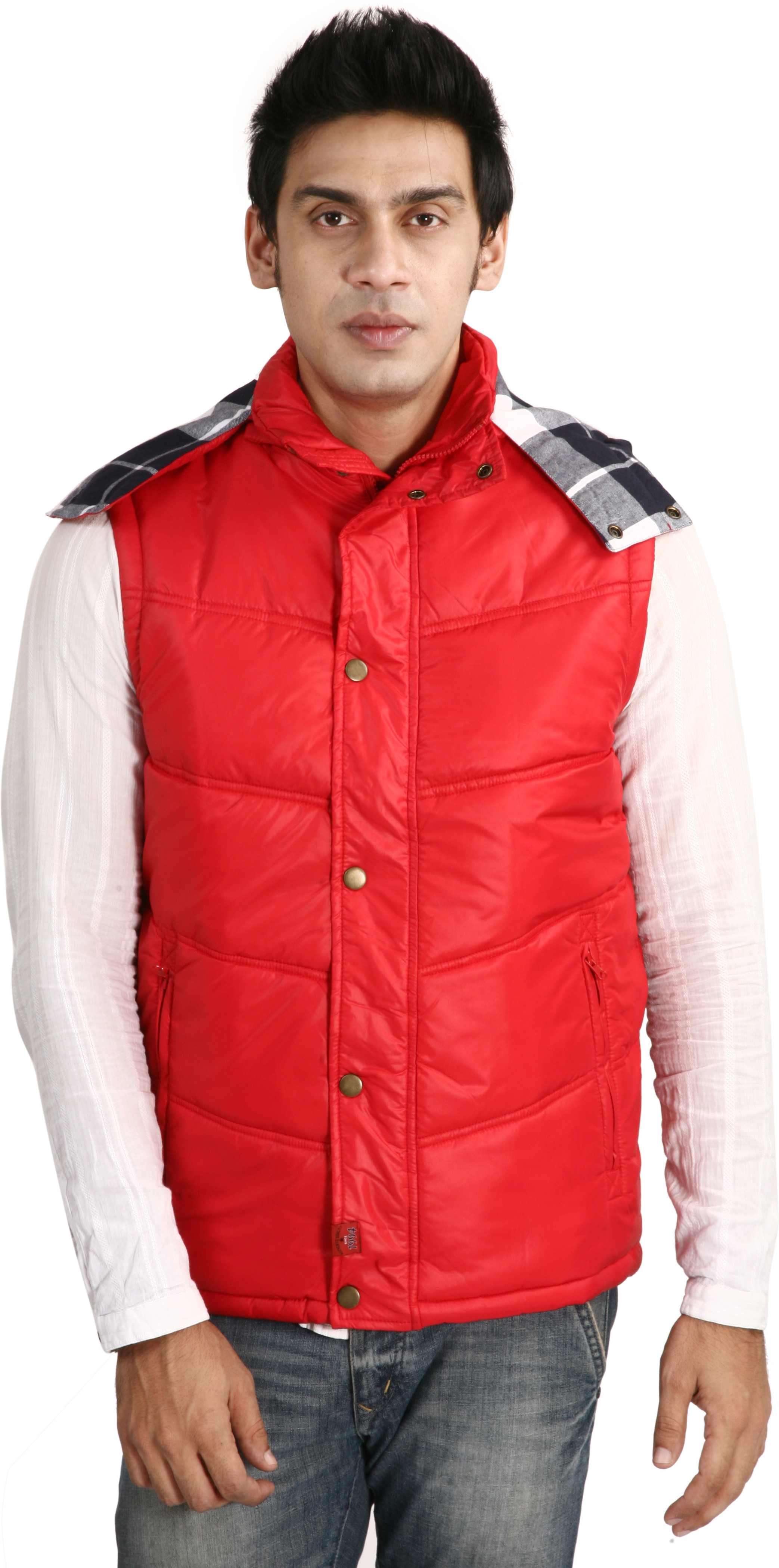 Oracle Sleeveless Solid Men's Quilted Jacket - Knit Wear