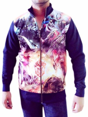 Myfizi Full Sleeve Printed Mens Jacket