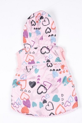 Peridot Club Sleeveless Printed Girl's Jacket