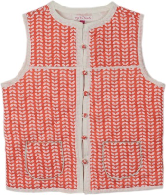 My Little Lambs Sleeveless Printed Boy's Quilted Jacket