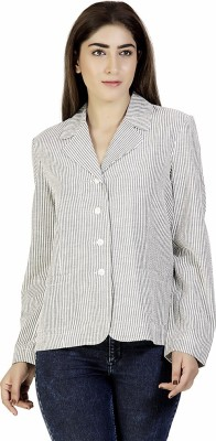 Gudi Full Sleeve Striped Women's Jacket