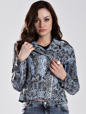 GAS Full Sleeve Animal Print Women's Bomber Jacket