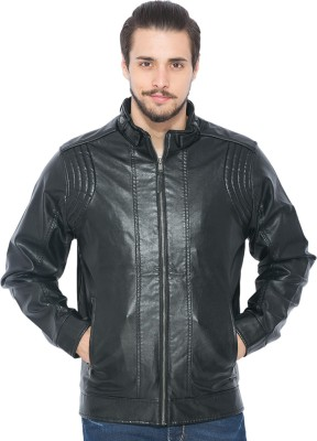 Status Quo Full Sleeve Solid Men's Leather Jacket