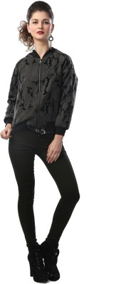 Glam & Luxe Full Sleeve Printed Women's Bomber Jacket