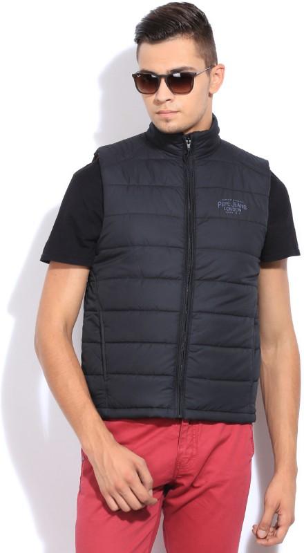 Pepe Sleeveless Solid Men's Jacket