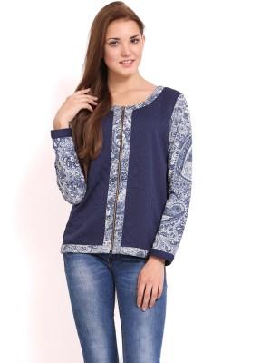 Femenino Full Sleeve Floral Print Women's Jacket