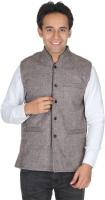 Quetzal Sleeveless Solid Mens Jacket