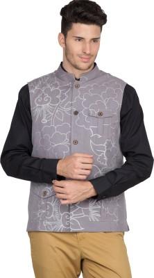 Suchos Sleeveless Printed Mens Print Jacket