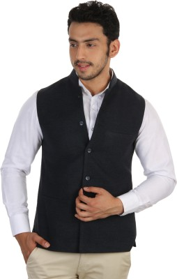 Platinum Studio Sleeveless Solid Mens Nehru Jacket