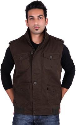 Stepp Up Jackets Sleeveless Solid Men's Jacket