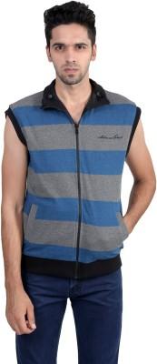 Gazelle Active Sleeveless Striped, Solid Men's Jacket