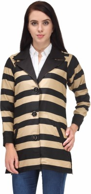 Natty India Full Sleeve Striped Women's Quilted Jacket