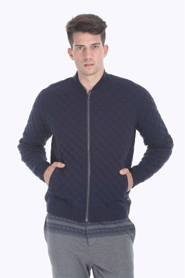 Zobello Full Sleeve Self Design Men's Jacket