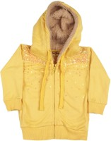 Gini & Jony Full Sleeve Solid Baby Girls Jacket best price on Flipkart @ Rs. 1124