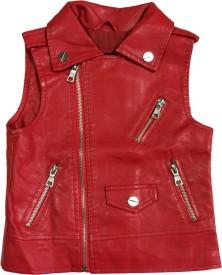 Littlelollydoodle Sleeveless Self Design Boys Jacket