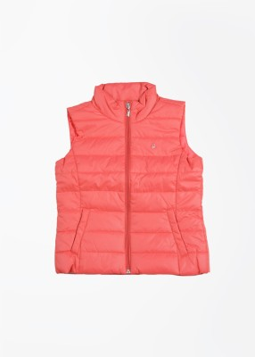 United Colors of Benetton Sleeveless Solid Girl's Jacket