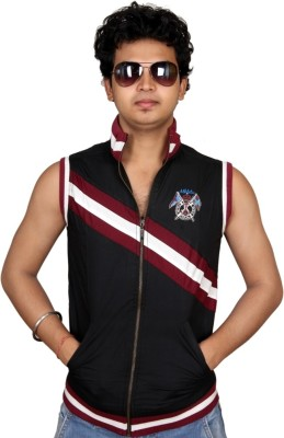 Fulon Sleeveless Striped Men's Jacket