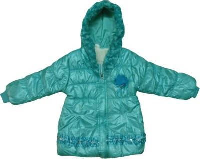 Fusion Fashion Full Sleeve Solid Girls Quilted Jacket