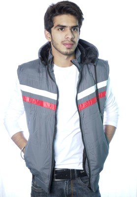 Shoppestreet Sleeveless Solid Men's Jacket