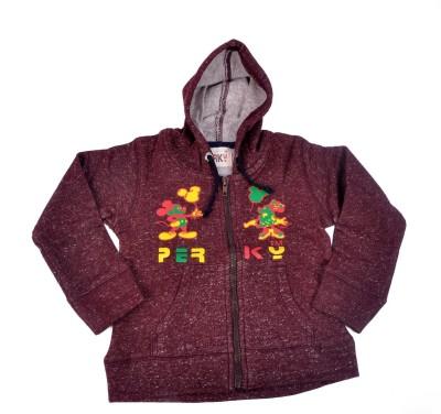 Perky Full Sleeve Self Design Boy's Jacket