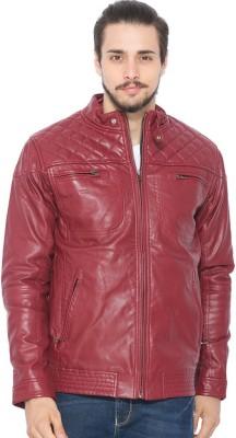 Status Quo Full Sleeve Solid Men's Leather Jacket Jacket