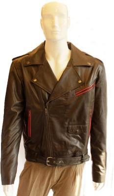 Tab Fashion Full Sleeve Solid Men,s Leather Jacket