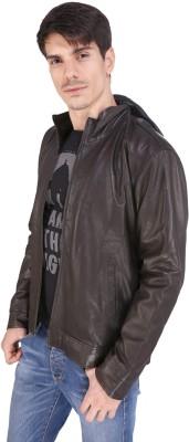 Pranjali Full Sleeve Solid Men's Leather Jacket Jacket