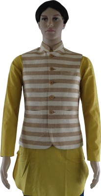 Indo Mood Sleeveless Striped Men's Jacket
